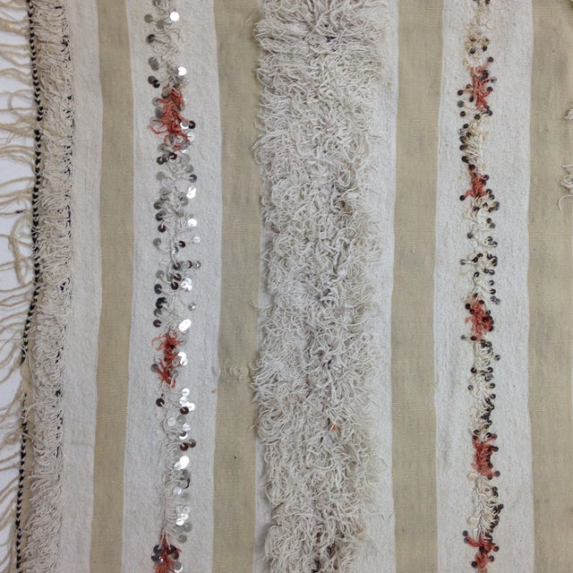 Moroccan Handira Wedding Blanket - Image 3 of 4