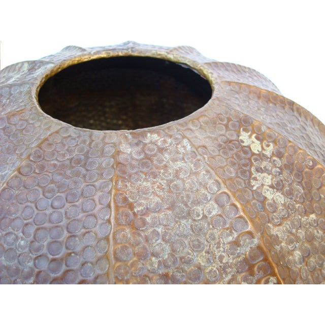 Large Hammered Copper Pot - Image 3 of 5