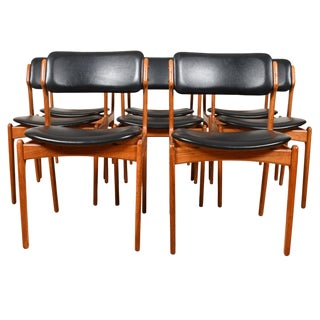 Danish Modern Teak Dining Chairs by Erik Buch - Set of 8 For Sale