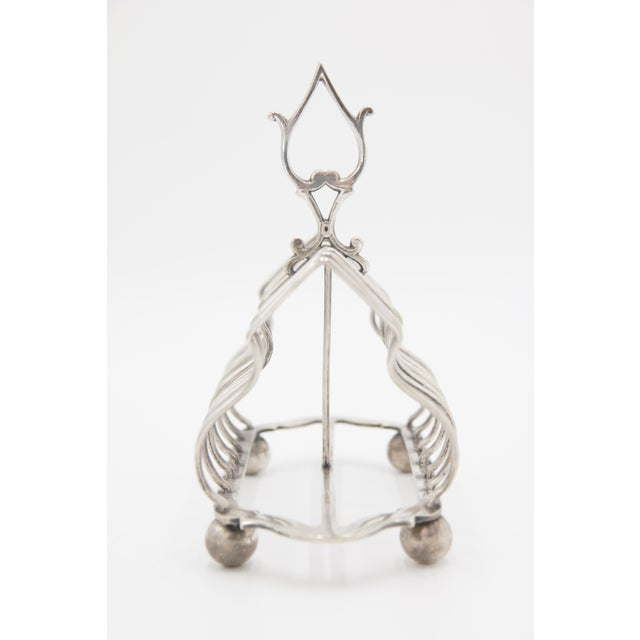 English Traditional Antique English Silver Plate Toast Rack For Sale - Image 3 of 8