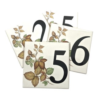 House Numbers Tiles - Set of 4