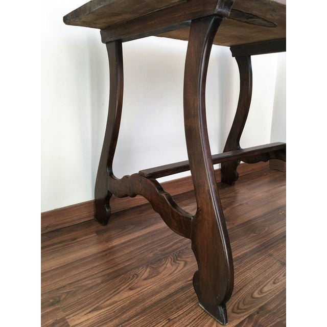 19th Spanish Farm Table or Desk Table For Sale - Image 9 of 11