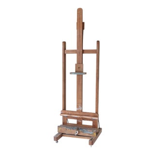 French Artist Easel circa 1910 with Dual Crank System For Sale