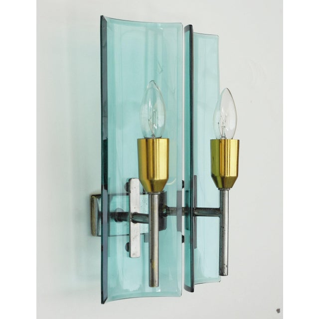 Cristal Arte Cristal Arte Beveled Sconces (3 Available) For Sale - Image 4 of 12