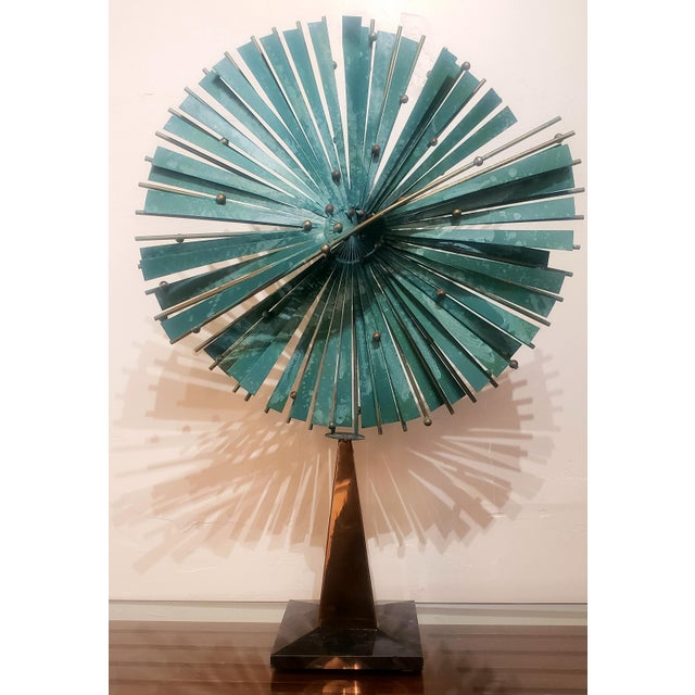 Green Curtis Jere Windmill Sculpture For Sale - Image 8 of 8