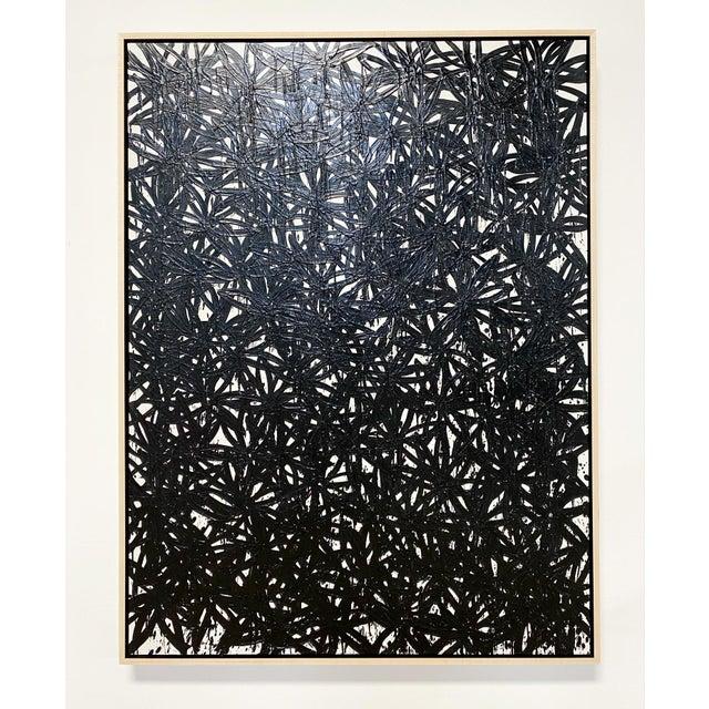 "Encaustic Exclusive John O'Hara ""Daisies, Black"" Encaustic Painting For Sale - Image 7 of 7"