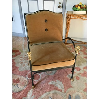 Vintage Diego Giacometti Style Wrought Iron Chair Preview