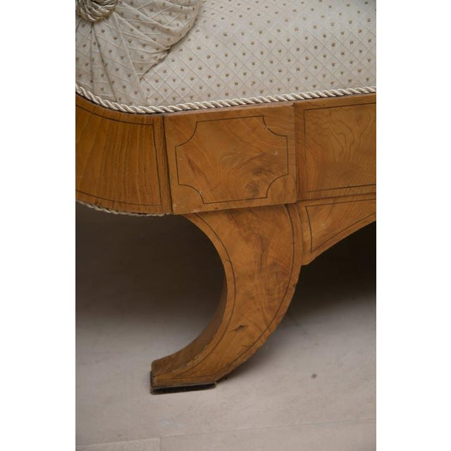 19th Century Russian Biedermeier Cherrywood Settee For Sale - Image 4 of 9