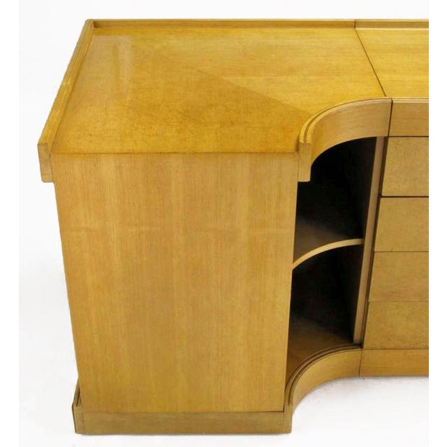 1970s Brian Palmer For Baker Birdseye Maple Modular Three Piece Cabinet For Sale - Image 5 of 7