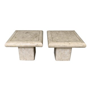 Vintage Maitland-Smith Tessellated Stone Side Tables - a Pair For Sale