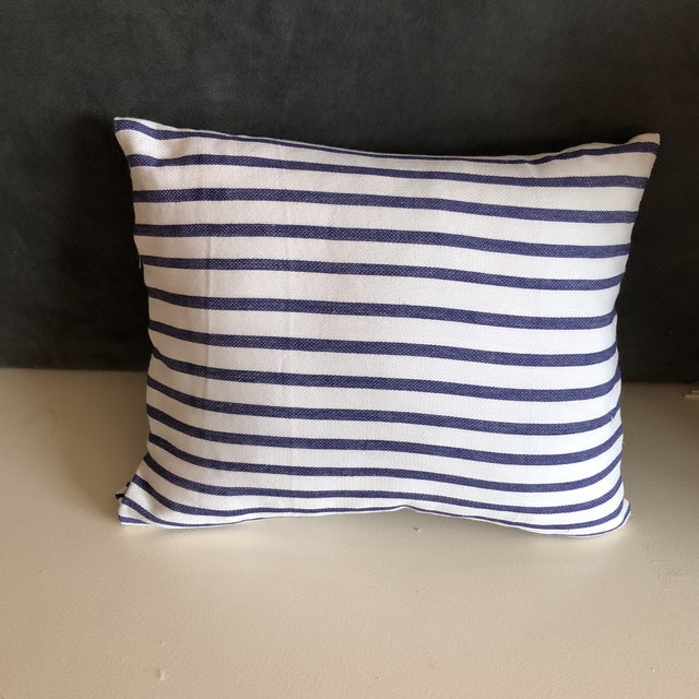 Nautical Nautical Stripes Pillows - a Pair For Sale - Image 3 of 5