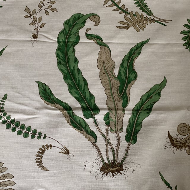 "G. P. & J. Baker ""Ferns"" Fabric- 1 1/4 Yards For Sale In New York - Image 6 of 8"