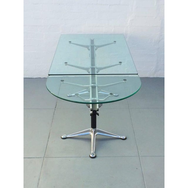 Aluminum Glass and Aluminum Table Designed by Bruce Burdick for Herman Miller For Sale - Image 7 of 9