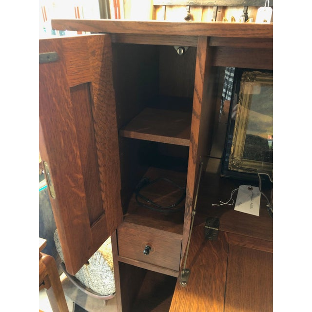 Stickley Oak Drop Front Desk For Sale In Tampa - Image 6 of 12