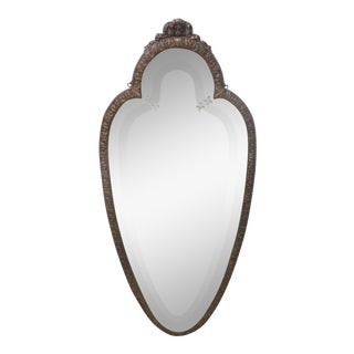 French Style Gilt Carved Shield Mirror