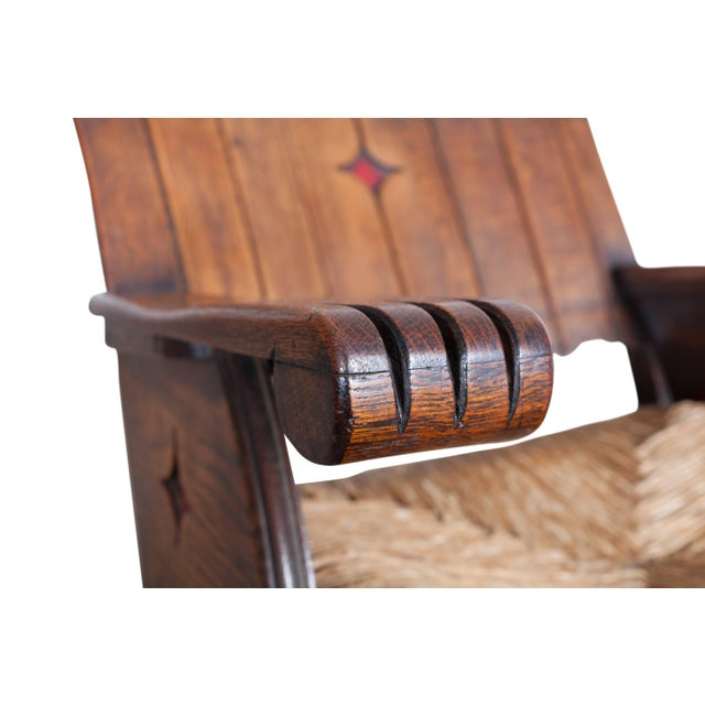Arts & Crafts Sculptural Arts & Crafts Lounge Chair For Sale - Image 3 of 9