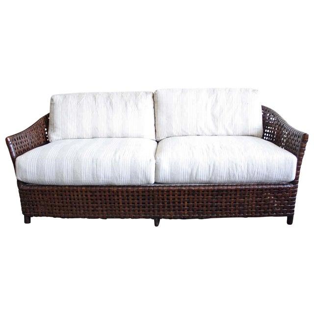 McGuire Antalya Sofa Dark Tobacco Baker Fabric For Sale
