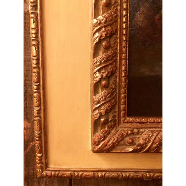 Antique French Still Life Painting in Panel, Circa 1870-1890. For Sale - Image 4 of 6