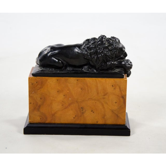 Brown Italian Neoclassical Style Lion Bookends - a Pair For Sale - Image 8 of 9