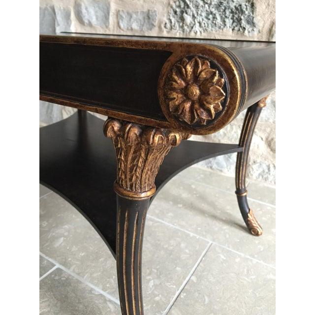 Nancy Corzine Neoclassical Black Coffee Table - Image 5 of 6