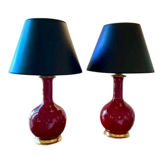 Pair Signed Christopher Spitzmiller Lamps For Sale
