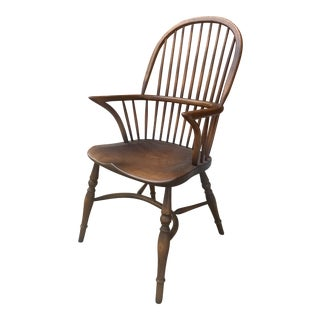 Antique Ash Wood Windsor Arm Chair For Sale