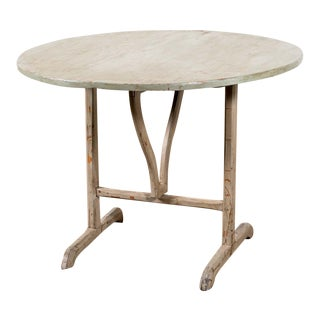 Antique Painted Wine Table For Sale