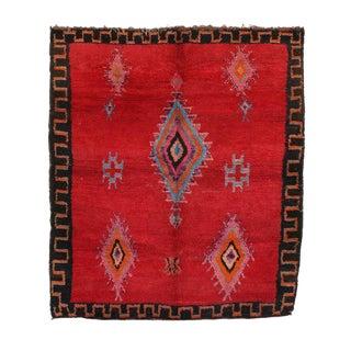 """Boujad Vintage Moroccan Rug - 6'1"""" x 6'9"""""""