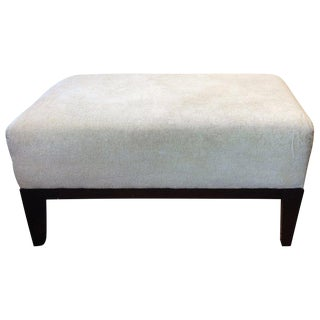Traditional Barbara Barry Cream Upholstered Well Read Ottoman