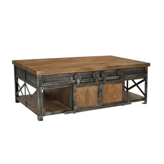 Sliding Door Farmhouse Coffee Table