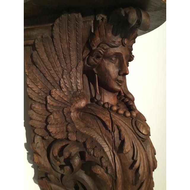 Antique Carved Wood Bracket - Image 7 of 11