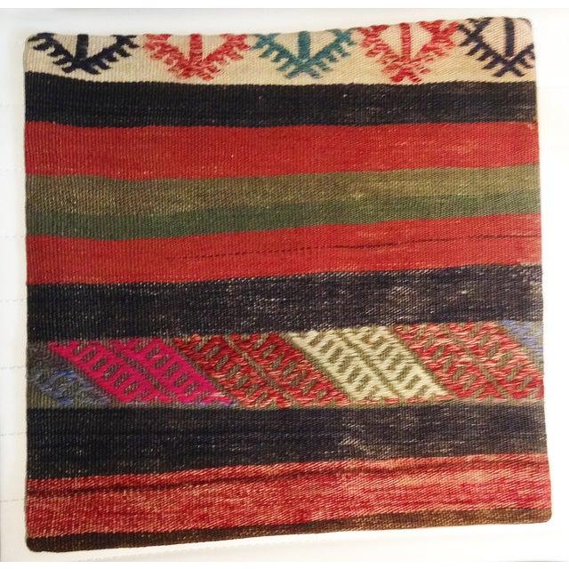 Vintage Turkish Kilim Pillow - Image 2 of 3