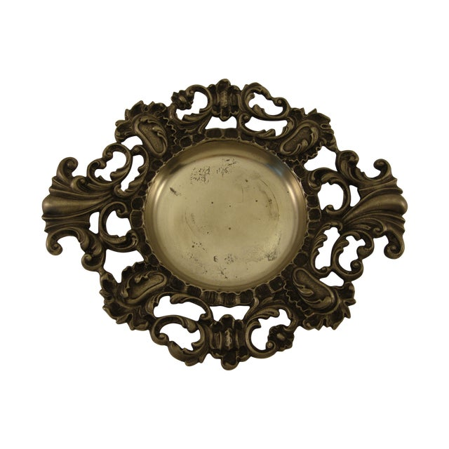 Vintage Baroque Italian Pewter Catchall - Image 1 of 5