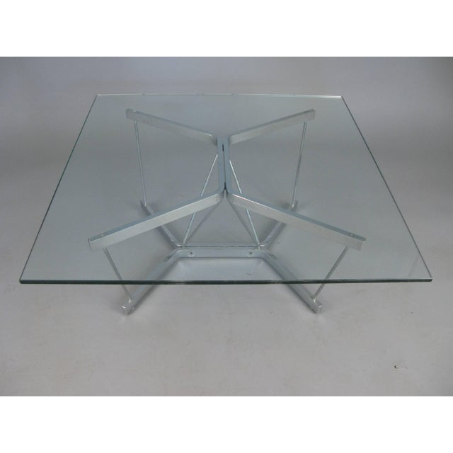 Herman Miller Vintage 1960s George Nelson for Herman Miller Chrome and Glass Catenary Table For Sale - Image 4 of 9