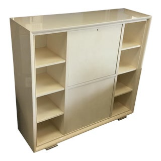 Ralph Lauren Cream Lacquer One Fifth Bar Cabinet For Sale