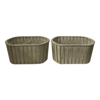 Swedish Wood Planters - A Pair