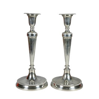 Pair of Large Tiffany & Co. Sterling Candlesticks