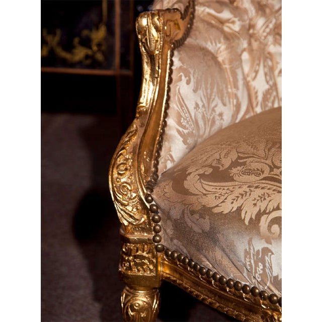 French Louis XVI Style Corner Chair For Sale - Image 4 of 7