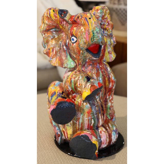 """Mauro Oliveira """"Playful Baby Elephant"""" Sculpture For Sale In Palm Springs - Image 6 of 6"""