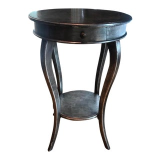1990s Art Nouveau Silver Antiqued Side Table