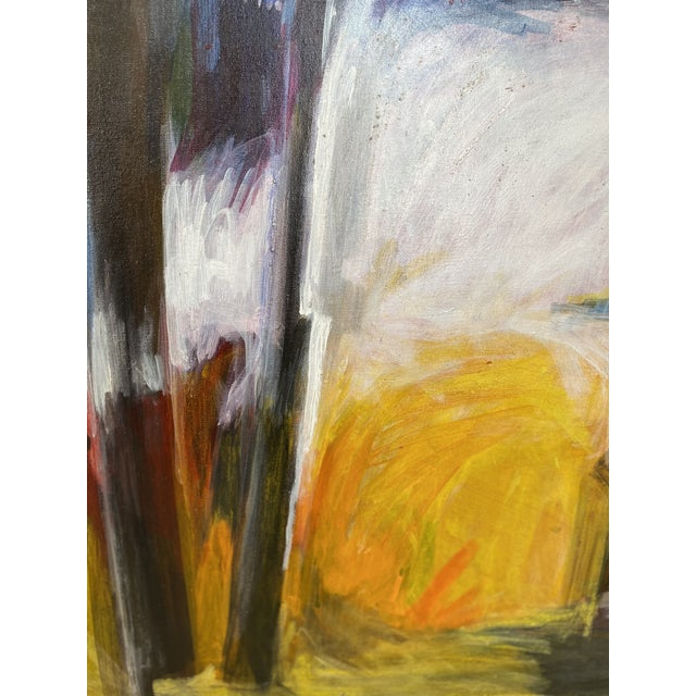 Mid 20th Century Abstract Oil Painting For Sale In Portland, ME - Image 6 of 11
