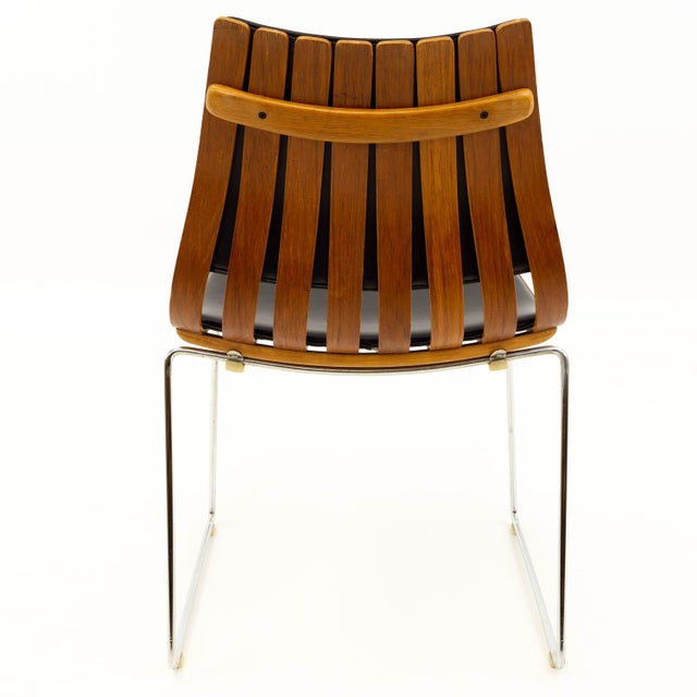 Mid 20th Century Vintage Mid Century Hans Brattrud for Hove Mobler Teak Padded Scandia Chair For Sale - Image 5 of 8
