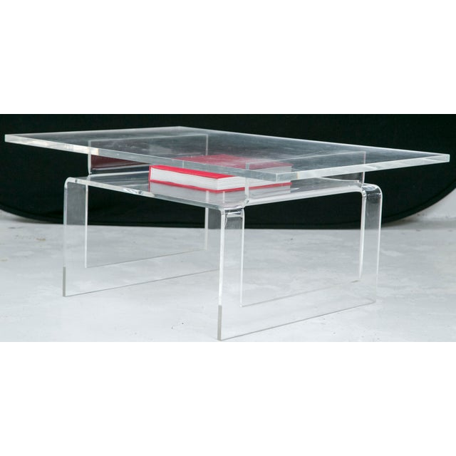 Vintage Lucite 2-Tier Coffee Table - Image 5 of 5