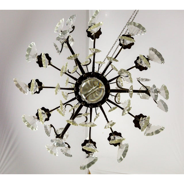Parisian Second Empire Style Darkened Brass Chandeliers - a Pair For Sale - Image 9 of 13