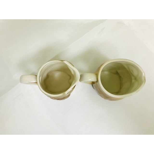 1980s 1980s Vintage Otagiri Small Owl Syrup Creamer Pitchers - a Pair For Sale - Image 5 of 7