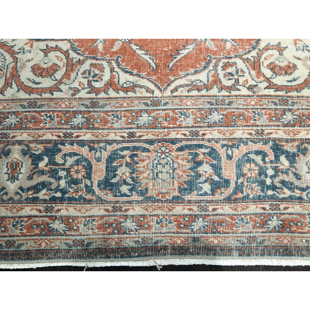 "Vintage Turkish Oushak Rug - 8'9"" x 11'10"" - Image 5 of 8"