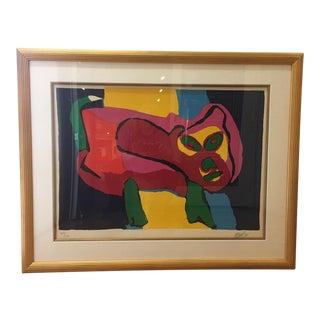 Karel Appel Lithograph, 1971 For Sale