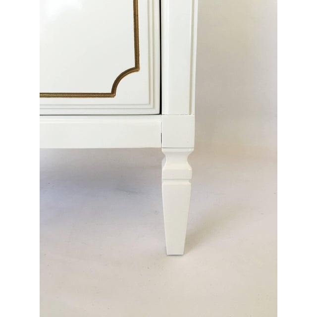 Wood Pair Lacquered French Regency Bachelor Nightstands For Sale - Image 7 of 10