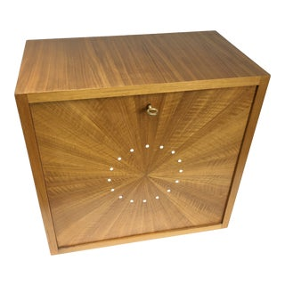 French Sunburst Wood Wall Hung Desk by Maison Dominique For Sale