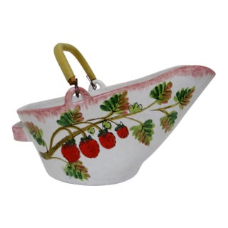 Italian Ceramic Bowl With Handle